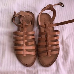 Urban outfitters tan gladiator sandals